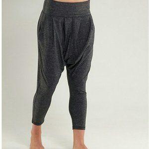 Rare Lululemon Charcoal Cropped Harem Yoga Pant